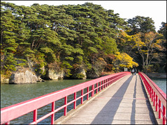 Fukuura Bridge (Toll) (richfowler) Tags: trees japan forest rocks  matsushima  pinetrees   miyagiprefecture  coolpixp5100  fukuuraisland fukuurabridge
