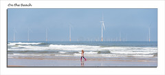 On the Beach (0Hammer64) Tags: beach girl sand nikon northsea northeast windfarm d800 redcar windturbines yabbadabbadoo seaa 0hammer64