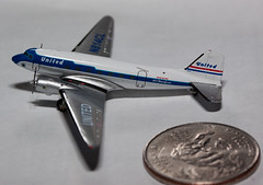 United Airlines DC-3 in 1/400 Scale (Paul Robbins - BNA-Photo) Tags: dc3 unitedairlines 1400