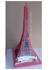 eiffely big celebration (The Whole Cake and Caboodle ( lisa )) Tags: pink paris france tower cakes cake silver eiffel whangarei fondant caboodle adultbirthdaycakeswhangarei birthdaycakeswhangarei
