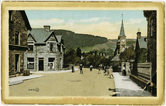 Cross roads, Aberfeldy, early 20 cent (P&KC Archive) Tags: building tourism fashion sport architecture scotland postcard 19thcentury perthshire scene recreation roads royalty aberfeldy spectacle perthandkinross