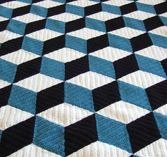 Isometric (solgrim) Tags: geometric wool crochet blanket afghan isometric