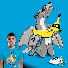 Dragon Wolf and Banana Bandit - Vector & Color (bortwein75) Tags: money art death design wolf dragon humor banana story bandit threadless tragic drama oddcouple bortwein