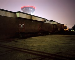Nightlife (Baisao) Tags: longexposure abandoned film night mediumformat watertower 6x7 eastside provia100f nightshooting wnw mamiya7ii nometer 465mm