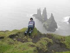 From the Cliff (girlav8r) Tags: ocean cliff mist bird rock iceland waves wind atlantic vik puffin bullet trolls