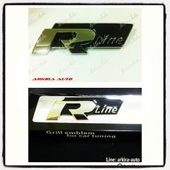 #grill #emblem #accessories #ประดับยนต์ #ของแต่งรถ #โลโก้หลัง #R-line #logo