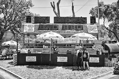 DSCF6837 (RHMImages) Tags: blackandwhite bw sign fuji fair fujifilm countyfair contracostacounty x100s bigbadbubbasbbq