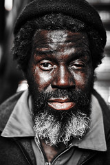 Nathaniel (C.Preston Roberts) Tags: life portrait newyork streets face contrast beard alone character homeless lifestyle streetlife queens dirt grime downandout hardlife downbutnotout picswithsoul