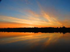 Entre Deux Aurore (clementlambert67) Tags: morning sunset sky cloud canada reflection nature river landscape cloudy