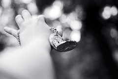 Untitled (Inelund) Tags: blackandwhite black white blue nature hand hands clock bokeh bokehlicious dof forest norway canoneos5dmarkii canon50mm