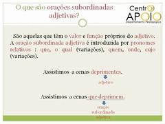 Exerccio orao subordinada substantiva - 21 (AulasApoioCom) Tags: o  que orao exercicios oraes subordinada substantivas substantiva