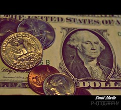 Ca$h (David Martn Castillo) Tags: usa money washington coin president cash note dollar token