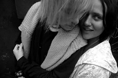 ) (naturaliZka) Tags: portrait bw brown guy girl hair couple blond glance