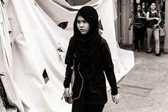 Scenes from Rochor #1 (one black line) Tags: street urban blackandwhite bw woman white black asian nikon singapore asia candid muslim streetphotography shroud rochor tamron1750 rochorroad d7100