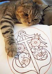 Sailor Keroppi and TuxedoSam... (astel83) Tags: tattoo cat sam drawing scottish sanrio tuxedo kawaii fold draw drawn keroppi