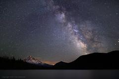 Star Light Star Bright (pdxsafariguy) Tags: mountain lake night oregon forest stars galaxy astronomy mounthood lostlake milkyway tomschwabel
