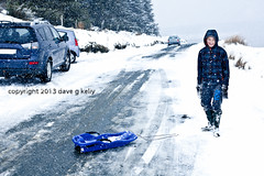 Toboggan or Not Toboggan (Dave G Kelly) Tags: road ireland winter irish mountain snow storm mountains cars sport canon outdoors photographer sledding recreation sled blizzard sleigh tobogganing wicklow toboggan icey mountainroad cowicklow davegkelly canoneos5dmark2 copyright2013davegkelly