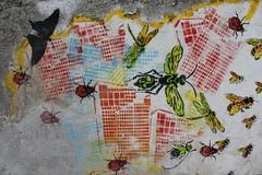 Nice Art_0844 rue Jean Douat Fontenay sous Bois (meuh1246) Tags: streetart papillon animaux abeille insecte libellule coccinelle fontenaysousbois niceart ruejeandouat