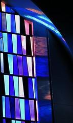 windowblues (LauraSorrells) Tags: pink blue light color love window conversion god deep grace sacred christianity monasteryoftheholyspirit abbeychurch salvific