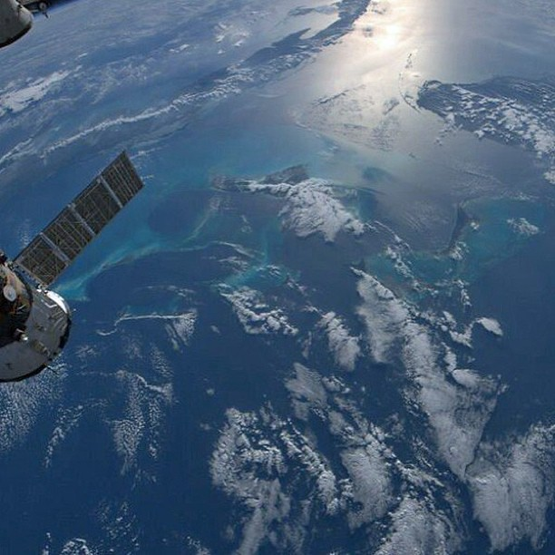 Ahoy, me space fans! In honor of 'Talk Like a Pirate Day,' here's an image of the Caribbean taken by astronaut Tom Marshburn on Feb. 13 from International Space Station. Credit: NASA #nasa #space #iss #talklikeapirateday #spacestation