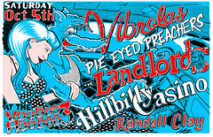 GP20131005 (The Bliz) Tags: chris 3 art car rock club print poster pie cow punk tennessee kentucky gig screen casino kings clay hoodoo eyed blizzard hillbilly voodoo randall hoz gigposter preachers landlords hosner vibrolas