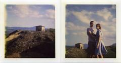 Pietra Perduca (colorsynth) Tags: italy film landscape polaroid couple