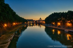 Vatican twilight (Marc Haegeman Photography) Tags: italy vatican rome roma reflections twilight italia dusk sunsets tiber marc bluehour stpetersbasilica haegeman reflectsobsessions