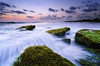 Between the Moss (eggysayoga) Tags: longexposure sunset sea sky bali cloud sun seascape motion seaweed beach water night indonesia landscape waterfall moss nikon bright lima ss hard wave tokina filter le 09 lee nd slowshutter spill 116 pantai graduated waterscape uwa gnd tabanan 1116mm babadan d7000 pwpartlycloudy