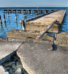 He really wanted that fishing spot... (Veritas Imago) Tags: louisiana neworleans hdr ponchartrainbeach