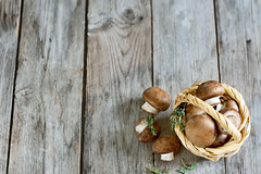 Mushrooms in basket background (Speleolog) Tags: life food brown white nature fruits vegetables closeup table mushrooms wooden vegan still healthy beige raw basket eating background small group objects stack full gourmet fungus tiny crop meal vegetarian organic wicker edible heap herb thyme sparse champignon freshness hardwood ingredient portabello