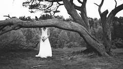 Headless Bride (Peter Ras) Tags: wedding bw tree monochrome canon fun denmark mono bride blackwhite log different weddingdress danmark hidding canoneos5d crocked heatherhill canonshooter peterras peterkirkeskovrasmussen peterkrasmussen