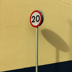 20 (Andrew Malbon) Tags: street leica red yellow shadows stripes perspective signage portsmouth 20 summilux southsea 35mmf14 strongisland leicam9