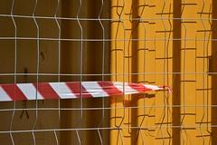 Emphasizing lines (TheManWhoPlantedTrees) Tags: red abstract geometric yellow metal corner shadows amarelo minimalism linear chantier estaleiro verticalism nikond3100 tmwpt