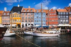 Nyhavn (freyavev) Tags: colorful nyhavn copenhagen kopenhagen denmark danska dnemark water boats bluesky houses capitalcity vsco urban