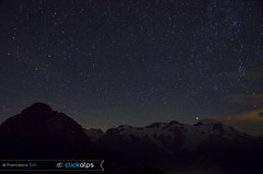 E' notte sul Monte Rosa... (Val d'Ayas, Valle d'Aosta) (Sisto Nikon - CLICKALPS PHOTOGRAPHER) Tags: montagne mountain mountains alps penninealps testagrigia notte nightscape stars milkyway stelle monterosa alpinismo alpinism natura wilderness nature bivaccoulrichlateltin valdayas ayasvalley aostavalley valledaosta valledaoste italy italianalps clickalps