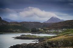 Scourie (OutdoorMonkey) Tags: scourie scotland coast coastal seaside seashore sea mountain benstack cloud evening headland countryside rural crofting croft village community