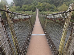 Biblins Footbridge, Monmouthshire, 21 September 2016 (AndrewDixon2812) Tags: wye river valley herefordshire gloucestershire bracelands biblins symonds yat monmouth forest dean bridge footbridge suspension forestrycommission monmouthshire