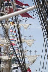 Tall Ship Race 2016, Cadiz - Cuauhtemoc (Ingunn Eriksen) Tags: tallship tallshiprace2016 cadiz spain cuauhtemoc christianradich flag sailors
