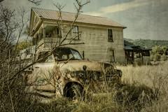 BYGONES (akahawkeyefan) Tags: pickup junker old decrepit taylorsville ca davemeyer house rusty