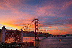 Golden Gate Sunset (jjohnsonphotography1) Tags: golden gate bridge sunset san francisco bay area sailboat ghetty beach ocean sea california