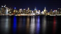 Bright Lights (Lojones13) Tags: skyline newyork westside night nightscape outdoor nikond7000 reflections water hudsonriver