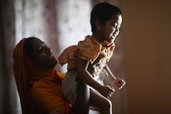 A little moment of joy (N A Y E E M) Tags: salma nanny umar kalam son joy today afternoon bedroom home rabiarahmanlane chittagong bangladesh availablelight indoors family sooc lulu