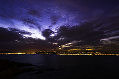 Sunset Cap d'Antibes (.Nico.N.) Tags: sun sunset antibes nuages cloud soleil sea mer