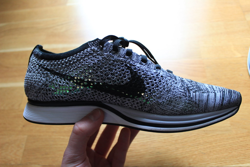 save off 93ded 6f03e NIKE FLYKNIT RACER OREO 3.0 COOKIES AND CREAM 526628-101 9US   UK8   42.5