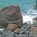 a granite boulder
