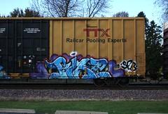 Pike (quiet-silence) Tags: graffiti graff freight fr8 train railroad railcar art pike sfb boxcar ttx tbox tbox662732