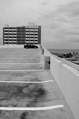 (SierraAKline) Tags: minimal minimalistic black white hollywood florida roof parking garage abandoned abstract