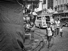 Shopping Trip (Beegee49) Tags: market street mother children jeepney bacolod city philippines