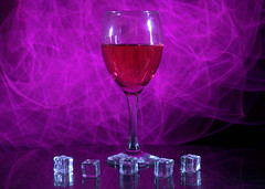 Experimental low light photo shoot - 6 (Tony Worrall) Tags: color cool nice colours colourful shoot shot glass drink drunk liquid smoke smokey experimental ice cubes icecubes plastic laser laserlight light lit lights studio studioshoot cloud clouds pink red