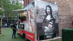 Venus vs Mona Lisa - Nuts-About-Tella - Food Truck Park at 80 Collins Street, Melbourne (avlxyz) Tags: fb foodtruck monalisa venus sandrobotticelli botticelli leonardodavinci davinci thebirthofvenus nutella